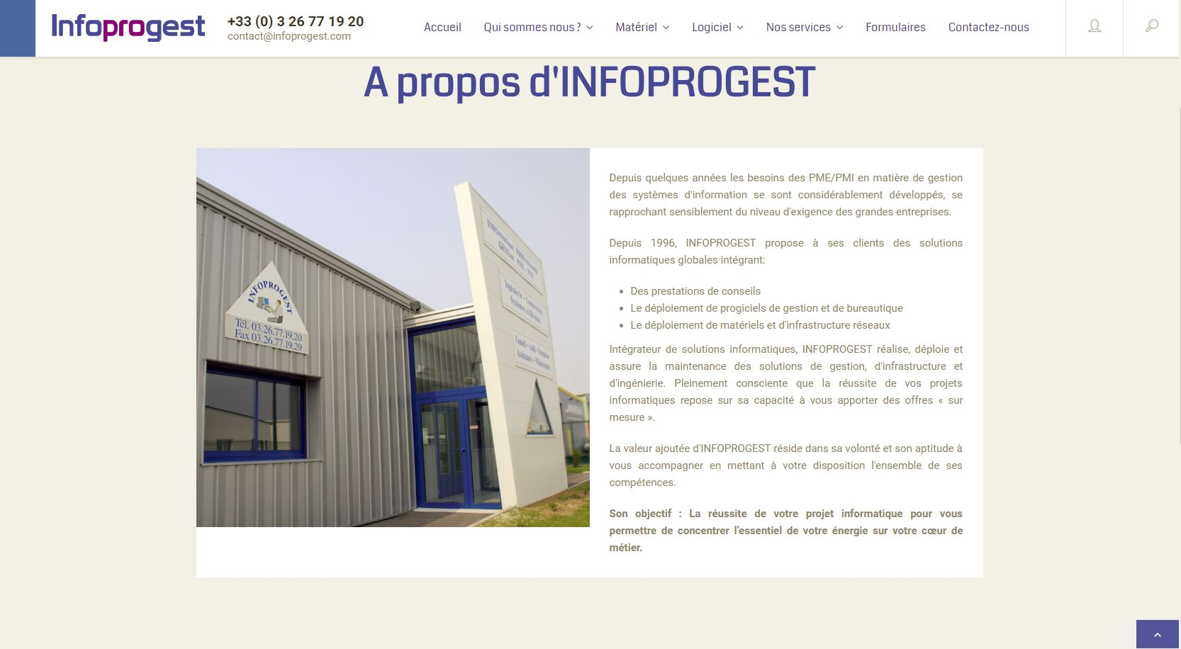Infoprogest, solutions informatiques Reims